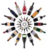 бутилки вино в кръг