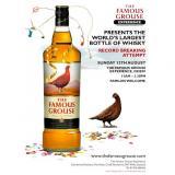 Плакат за най-голямата бутилка уиски в света
