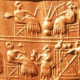 Древни керамични плочки изобразяващи бира 1