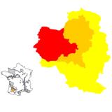 Карта на регионите в Арманяк квадратна