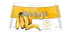 Етикет на ликьор банан на Монин