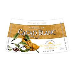 Етикет на ликьор бяло какао на Монин