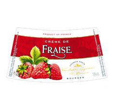 Етикет на ликьор ягода на Монин