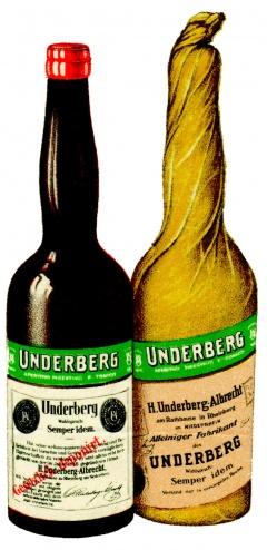 Бутилка стара Ундерберг 8
