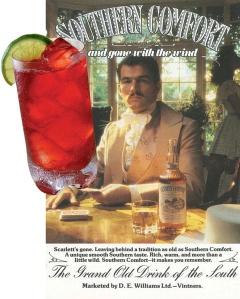 Коктейл Скарлет О Хара и плакат на Отнесени от Вихъра