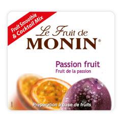 Етикет на Плодово пюре маракуя Монин