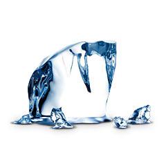 Ледено кубче символ на чистотата на водка Финландия