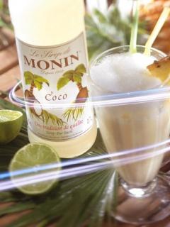 Коктейл със сироп кокос на Монин