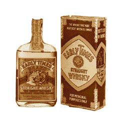 Стара бутилка на бърбън Ърли Таймс