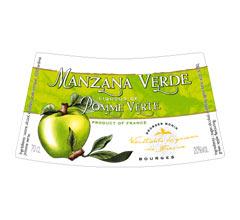 Етикет на ликьор зелена ябълка на Монин