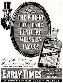 Стар рекламен постер на Ърли Таймс