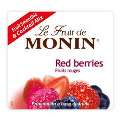 Етикет на Плодово пюре горски плодове на Монин