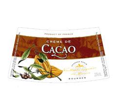 Етикет на ликьор тъмно какао на Монин
