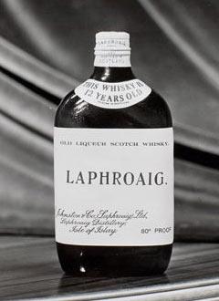 Бутилка 12 годишен Лафройг от 1930 -1940