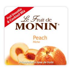 Етикет на Плодово пюре праскова на Монин