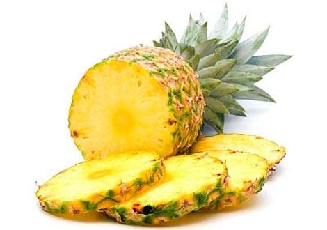 Нарязан плод ананас