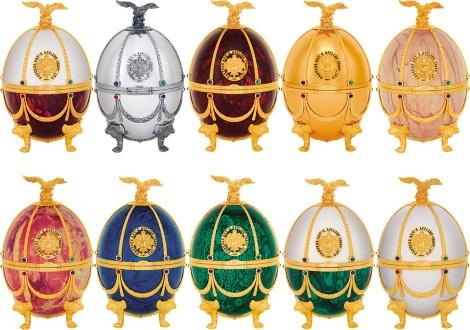 Серията с яйца Фаберже на водка Императорская Колекция