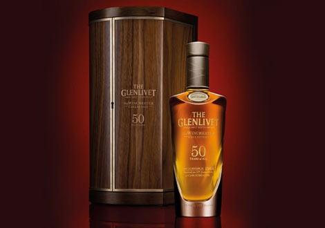 Първото 50 годишно уиски на дестилерията Гленливет, част от Уинчестър