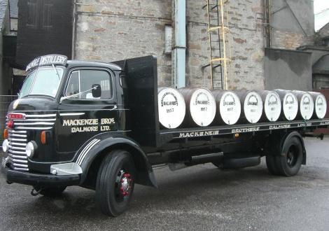 Стар камион в дестилерията на Далмор от времето на Братята Макензи