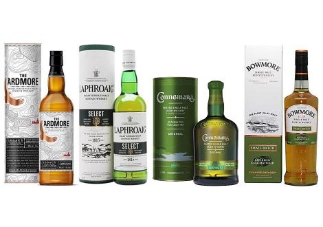 Колекция от опушени уискита на Бийм Сантори