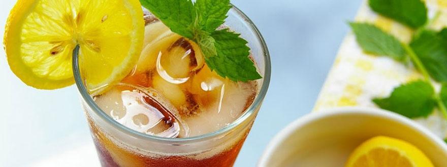 Студен чай с лимон