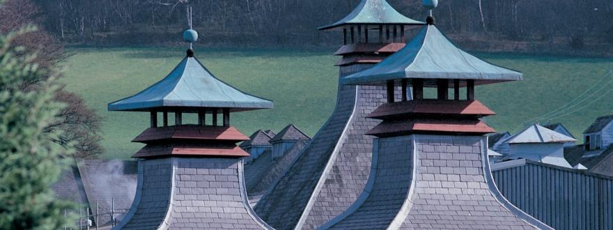 Пагодите (комините) на дестилерията  Glenfiddich