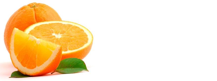 Портокал и портокалов резен на клин