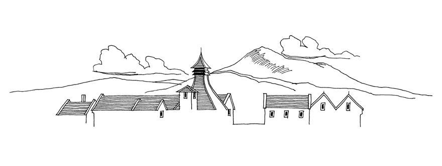 Графична илюстрация на дестилерията Гленфарклас