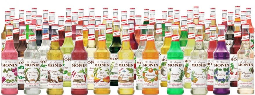 Част от портфолиото на коктейлни сиропи Монин