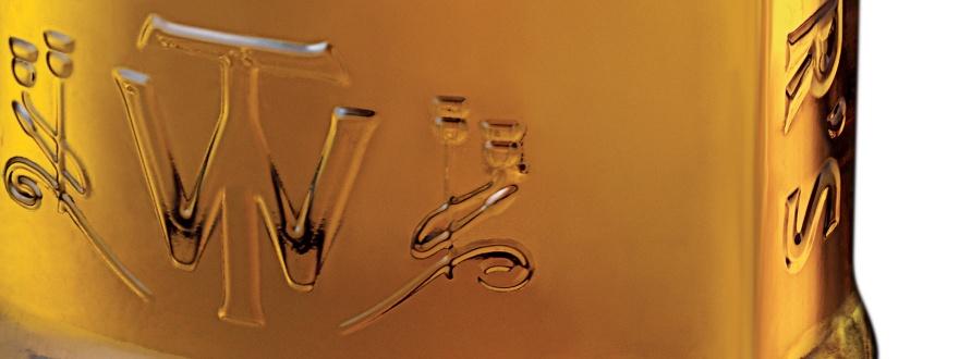 Фрагмент с лого от бутилка на Тичърс