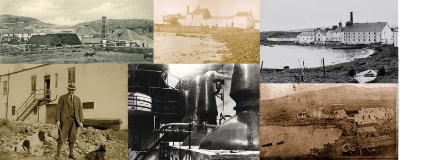 Стари исторически снимки на дестилерията Лафройг
