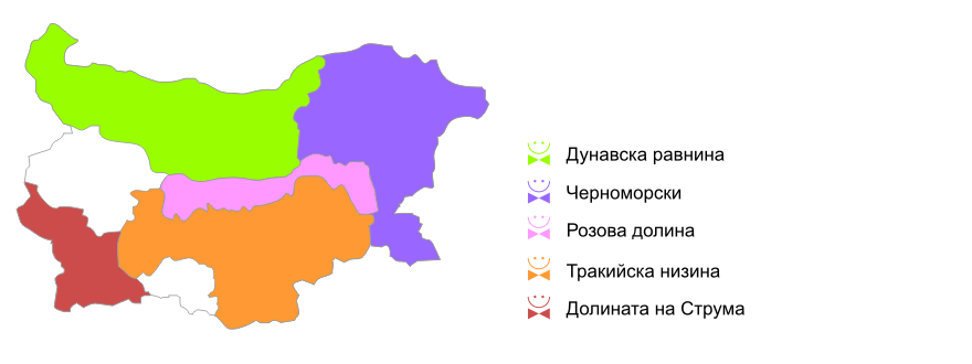 Климатические области в Болгарии