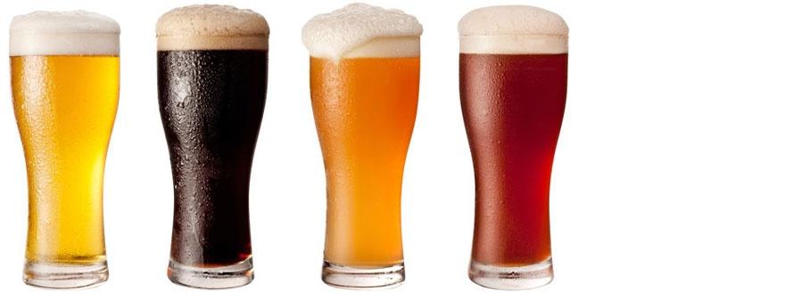 Чаши с различни стилове бира 1