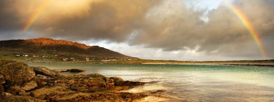 Пейзаж от областта Конемара в Ирландия