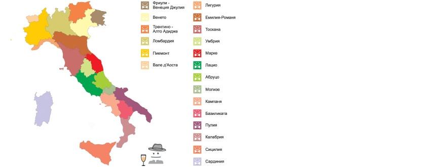 Винени региони на Италия