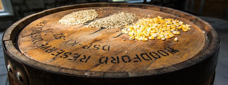 Зърното на Стиажи на които отлежават бъчвите с Уудфорд Резърв