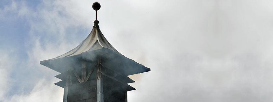 Пушеща пагода в дестилерията на Лафройг