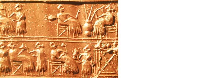 Древни керамични плочки изобразяващи бира 3